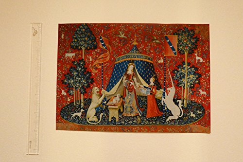 [해외]BiblioArt Series 귀부인과 일각수 (우리 단 하나의 희망에) 지 클레이 프린트 (이마 그림 -A3 캔버스 버전)/BiblioArt Series Ladies and Unicorn (in my only wish) Giclee Print (Framure - A3 Canvas Version)