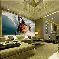 Hwhz 3Dの壁紙ギャロッピングの馬油絵写真の壁紙リビングルームの研究古典的な装飾の壁画3Dの非編まれた環境に優しい壁画-350X250Cm