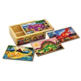 Melissa & Doug Dinosaurs 4-in-1 Wooden Jigsaw Puzzles
