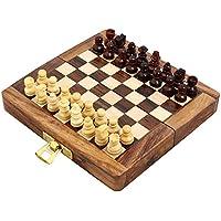 Set of 12 – 手作り木製折りたたみ磁気チェスセット – 木製旅行ゲーム – 5