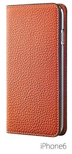 BONAVENTURA ボナベンチュラ iPhone6ケース (4.7インチ) ドイツ製本革 牛革 レザー アイフォンケース(オレンジ)パッケージ箱あり German leather diary type iPhone case