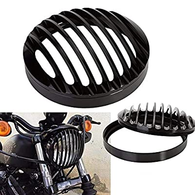 Black Aluminum Headlight Grill Cover for Harley Sportster Xl883 1200 2004-2014