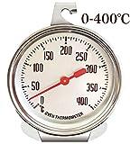 【e-lynk】 オーブン 温度計 調理用温度計 400度 スケール