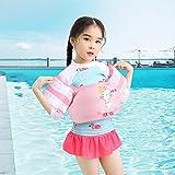 強化版 アームリング 子供用 浮き輪 幼児 プール 浮力サポート 浮き輪 腕 強い浮力 水泳リングアームサークル スイミング補助具 水泳練習 多色選択可 男女兼用 (ピンク)