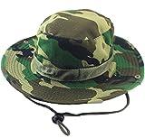 Grand Chelem 選べる 迷彩 柄 メンズ サファリ テンガロン ハット 帽子 サバゲー アウトドア 登山 フィッシング (森林迷彩)