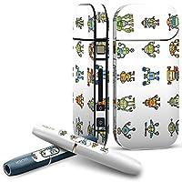 IQOS 専用 COMPLETE アイコス 専用スキンシール 全面セット サイド ボタン スマコレ チャージャー カバー ケース デコ ロボット 機械 013564