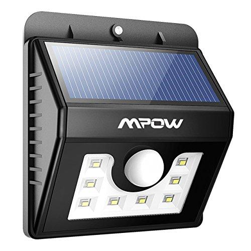 Mpow センサーライト ソーラーライト 8 LED 防犯ライト 3-in-1 玄関ライト三種類モデ...