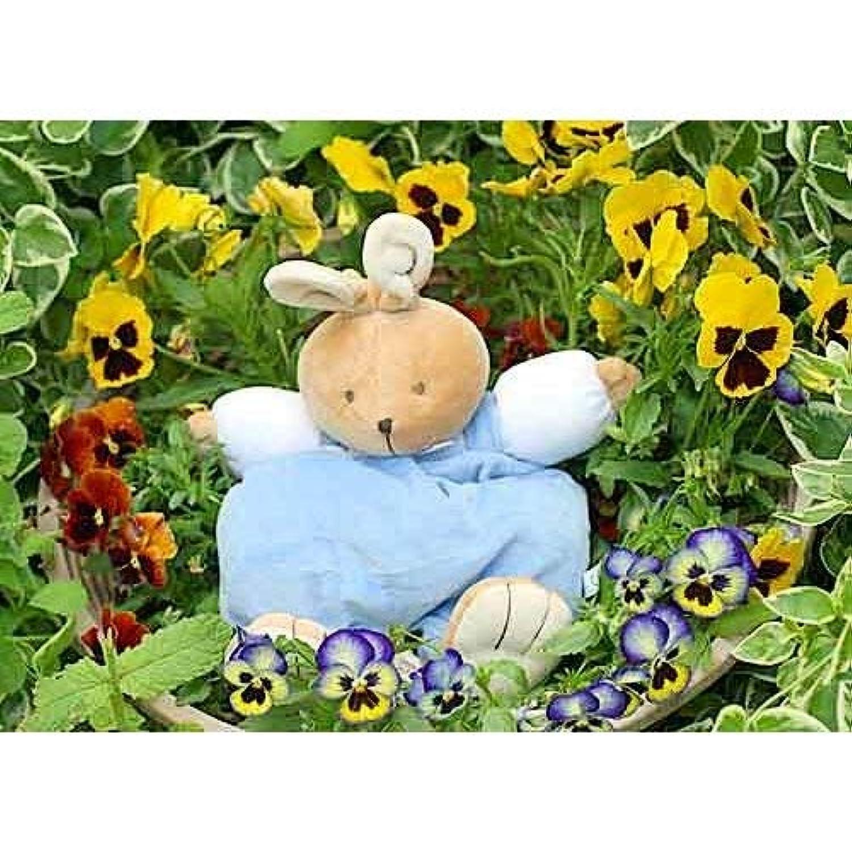 布おもちゃ ミュージカルプルリング トイ バニーブルー 赤ちゃんのオルゴール 出産祝