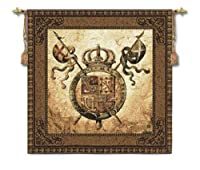 Fine Art Tapestries Terra Nova II Small Wall Tapestry 3858-WH 44 inches wide by 44 inches long, 100% cotton by Fine Art Tapestries
