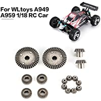 12T 15T 24T 38T Diff.メタルギア部品for WLtoys A949 A959 1/18 RC Car