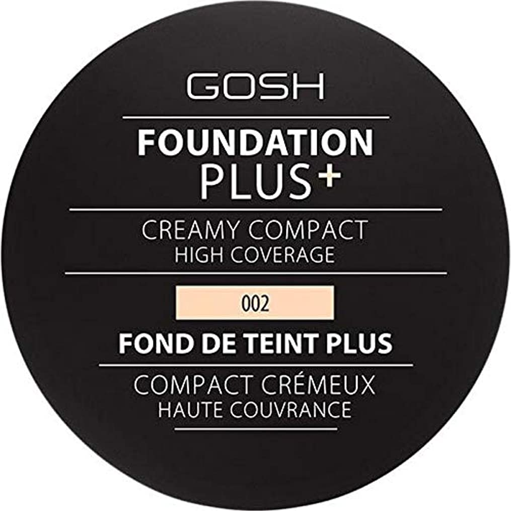 太鼓腹祝福する早く[GOSH ] 基礎プラス+クリーミーコンパクトアイボリー002 - Foundation Plus+ Creamy Compact Ivory 002 [並行輸入品]