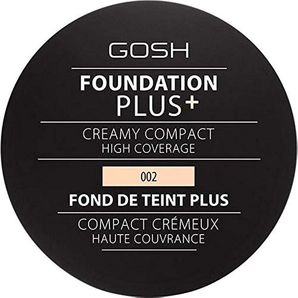 者最初にブーム[GOSH ] 基礎プラス+クリーミーコンパクトアイボリー002 - Foundation Plus+ Creamy Compact Ivory 002 [並行輸入品]