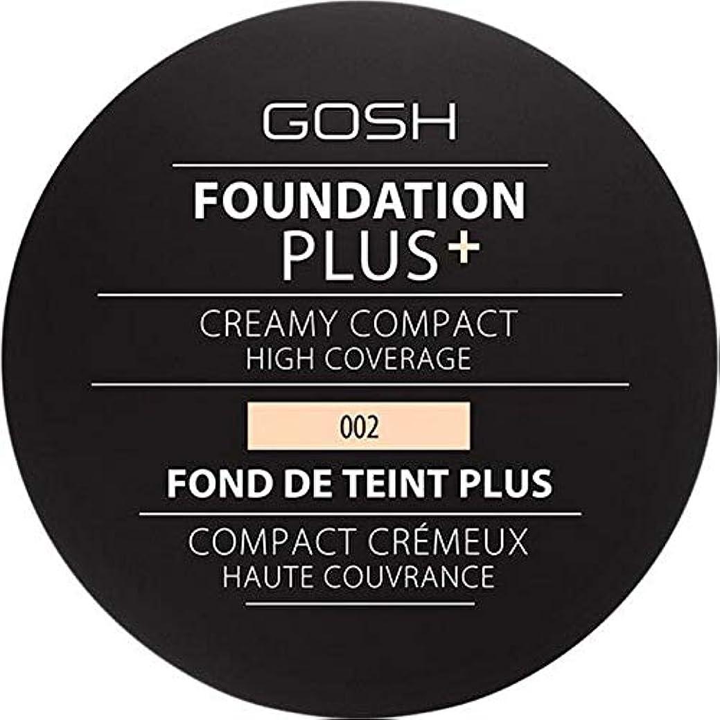サイクロプスピース北西[GOSH ] 基礎プラス+クリーミーコンパクトアイボリー002 - Foundation Plus+ Creamy Compact Ivory 002 [並行輸入品]