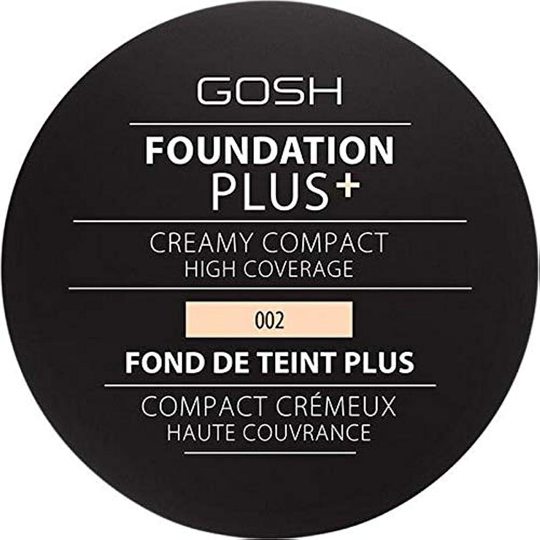 ピグマリオンボタン累積[GOSH ] 基礎プラス+クリーミーコンパクトアイボリー002 - Foundation Plus+ Creamy Compact Ivory 002 [並行輸入品]