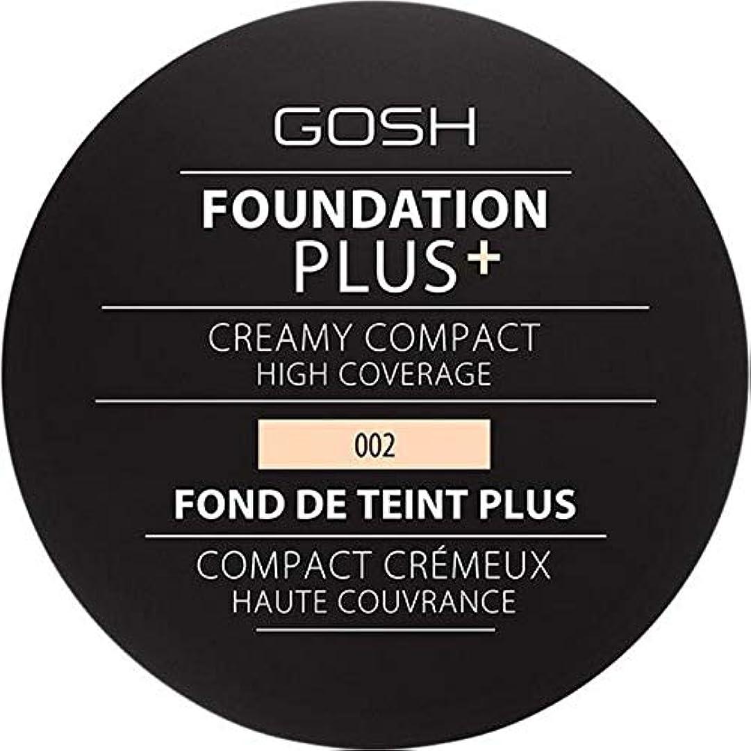 きしむ本とまり木[GOSH ] 基礎プラス+クリーミーコンパクトアイボリー002 - Foundation Plus+ Creamy Compact Ivory 002 [並行輸入品]