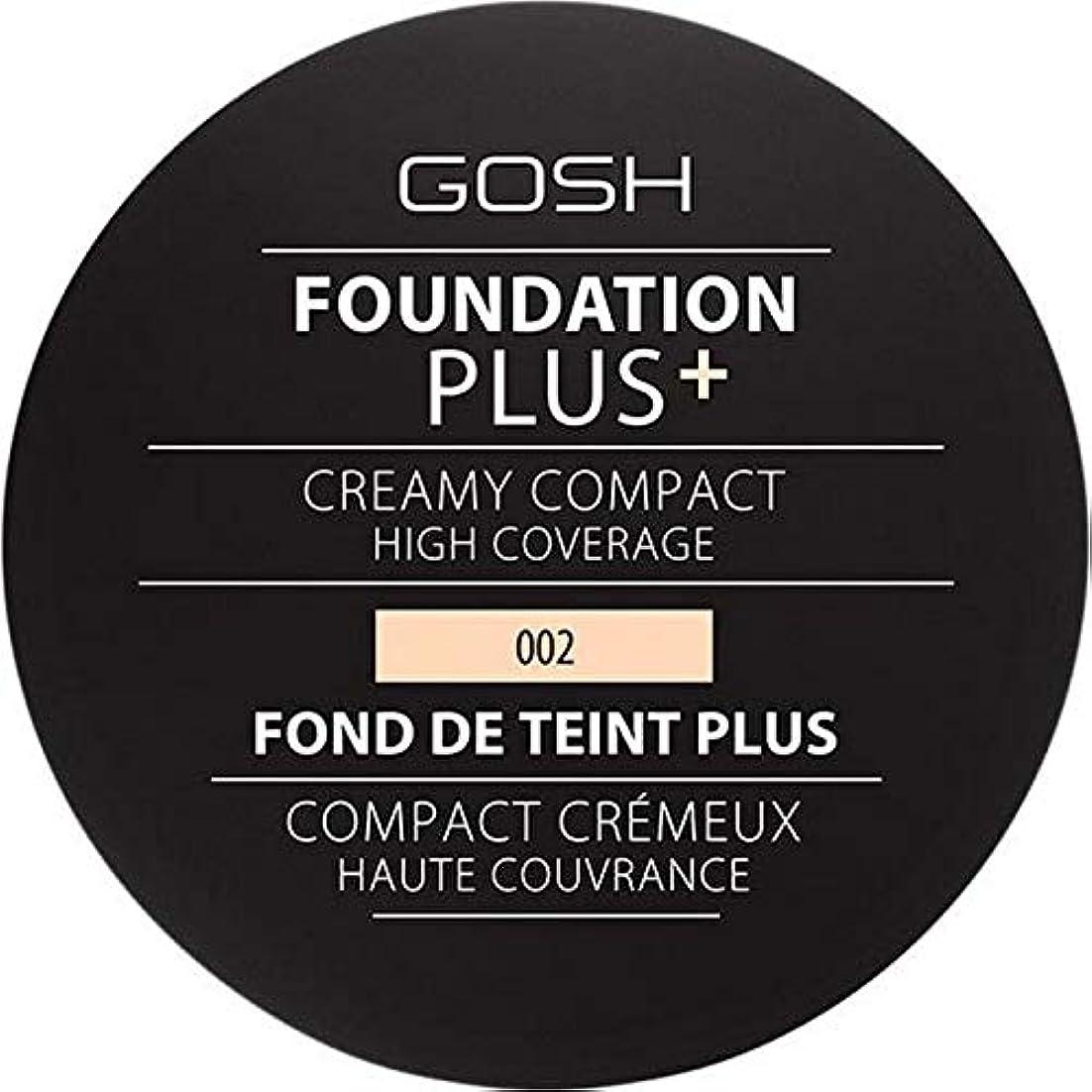 スタイルシエスタ敗北[GOSH ] 基礎プラス+クリーミーコンパクトアイボリー002 - Foundation Plus+ Creamy Compact Ivory 002 [並行輸入品]
