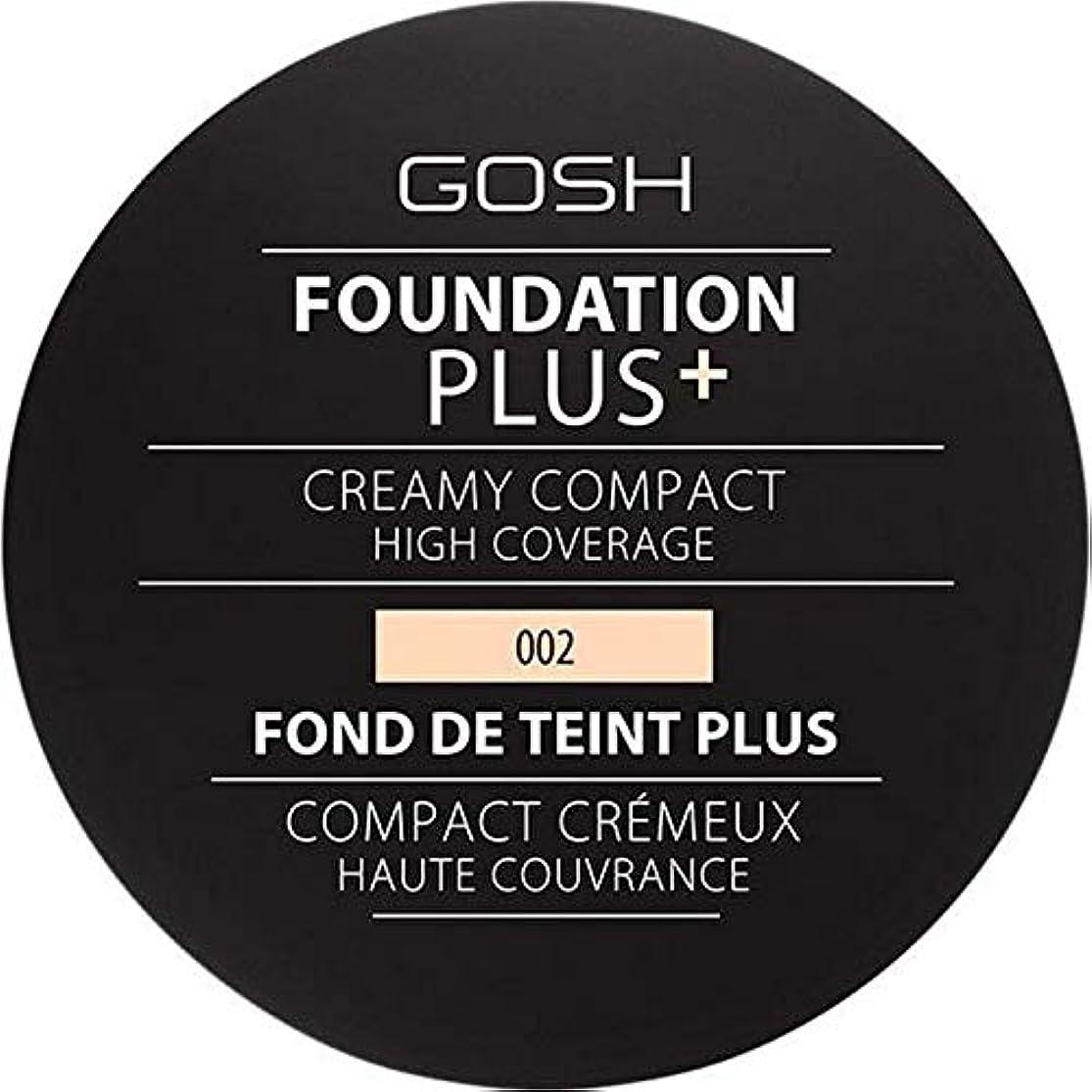 忙しい累積ナチュラル[GOSH ] 基礎プラス+クリーミーコンパクトアイボリー002 - Foundation Plus+ Creamy Compact Ivory 002 [並行輸入品]