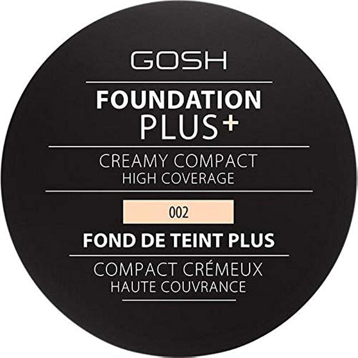 [GOSH ] 基礎プラス+クリーミーコンパクトアイボリー002 - Foundation Plus+ Creamy Compact Ivory 002 [並行輸入品]