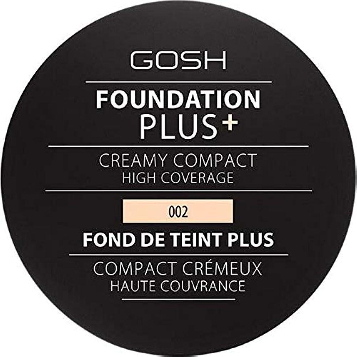 連鎖バッフルストラトフォードオンエイボン[GOSH ] 基礎プラス+クリーミーコンパクトアイボリー002 - Foundation Plus+ Creamy Compact Ivory 002 [並行輸入品]