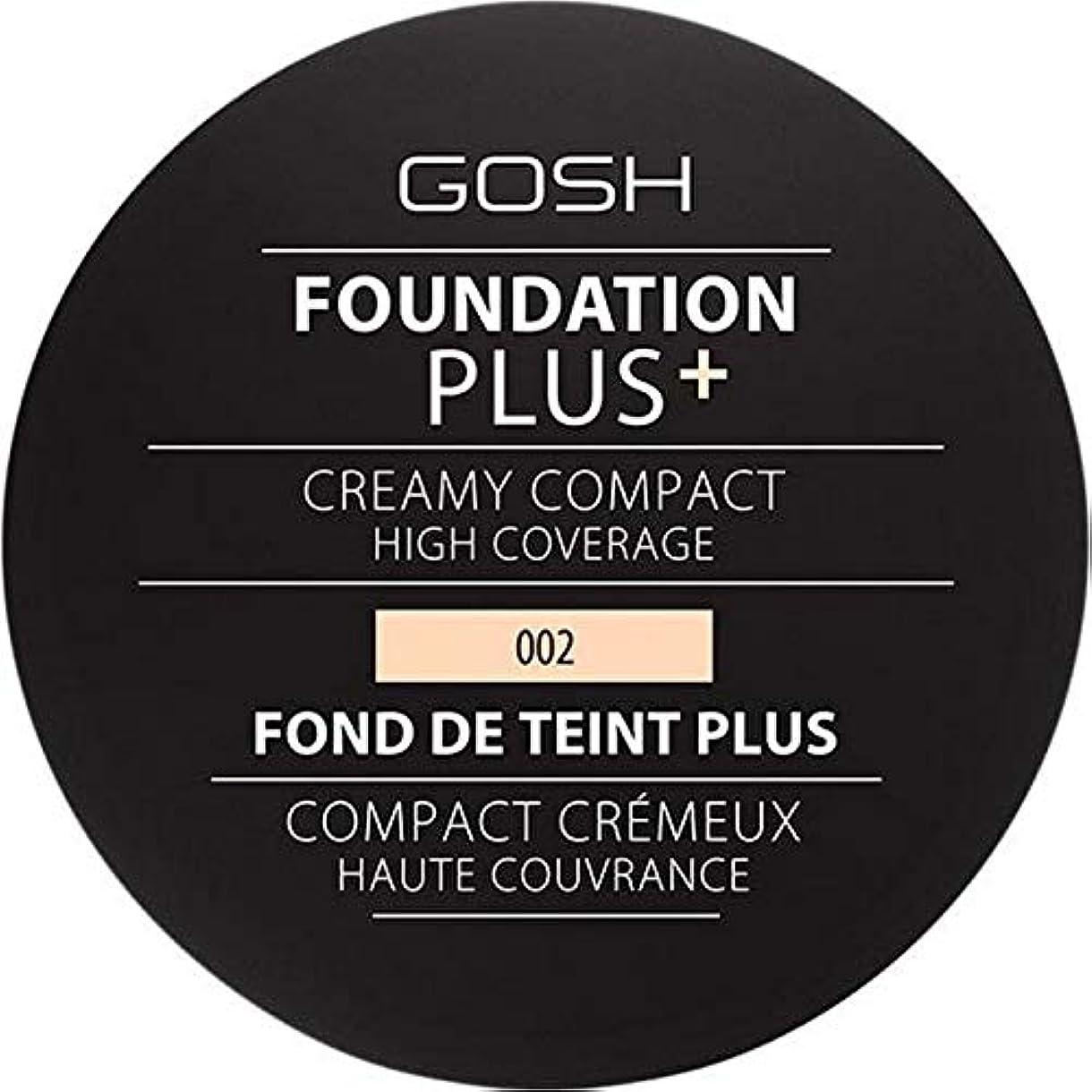 液化する戦闘抗議[GOSH ] 基礎プラス+クリーミーコンパクトアイボリー002 - Foundation Plus+ Creamy Compact Ivory 002 [並行輸入品]