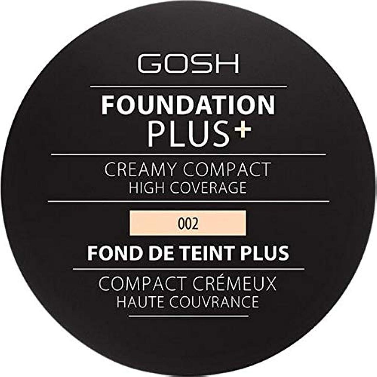 あたたかい裏切り好奇心盛[GOSH ] 基礎プラス+クリーミーコンパクトアイボリー002 - Foundation Plus+ Creamy Compact Ivory 002 [並行輸入品]