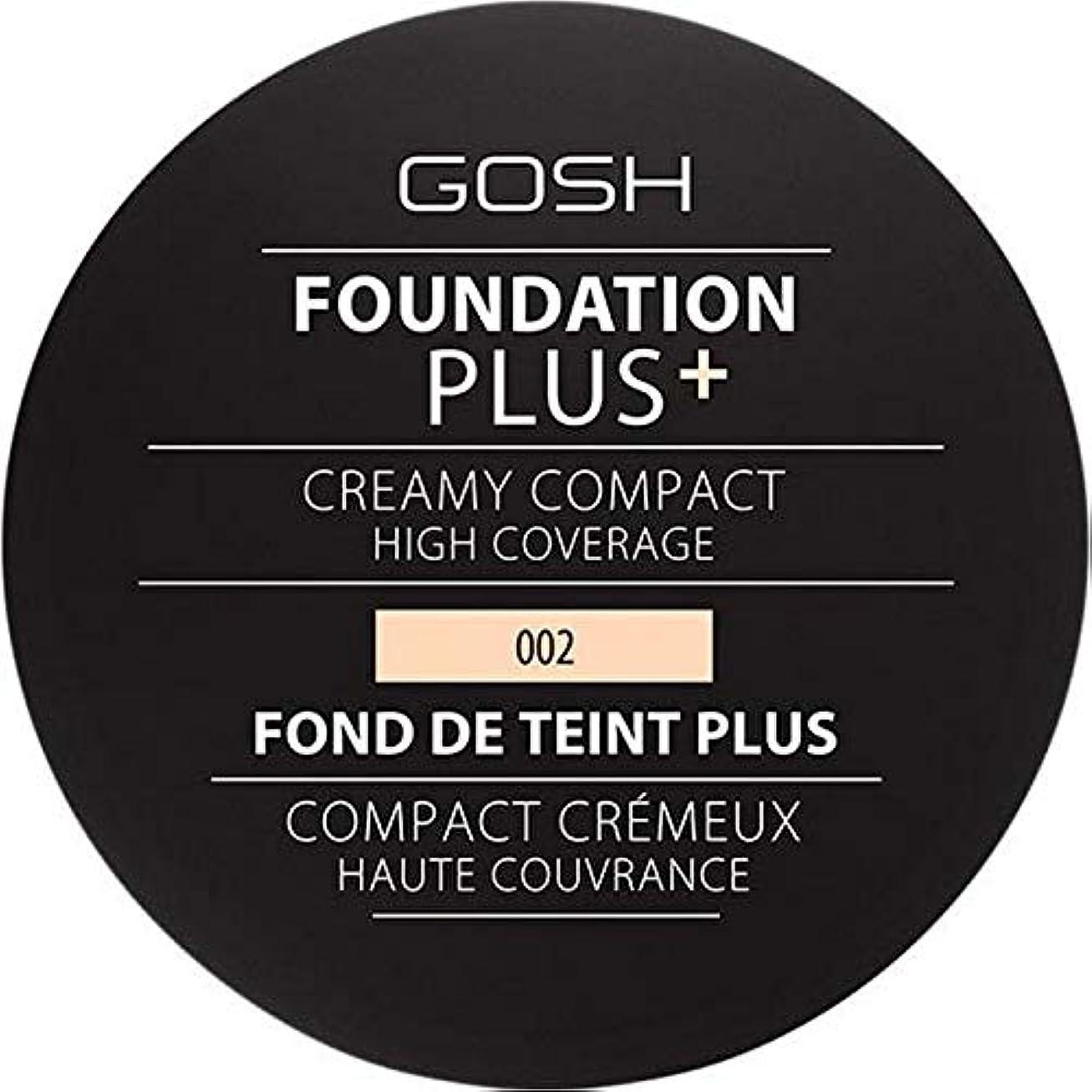 発見微視的のれん[GOSH ] 基礎プラス+クリーミーコンパクトアイボリー002 - Foundation Plus+ Creamy Compact Ivory 002 [並行輸入品]