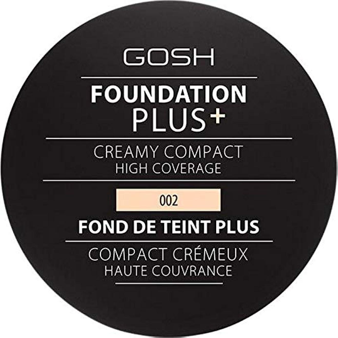 薄めるクルーズ保持[GOSH ] 基礎プラス+クリーミーコンパクトアイボリー002 - Foundation Plus+ Creamy Compact Ivory 002 [並行輸入品]