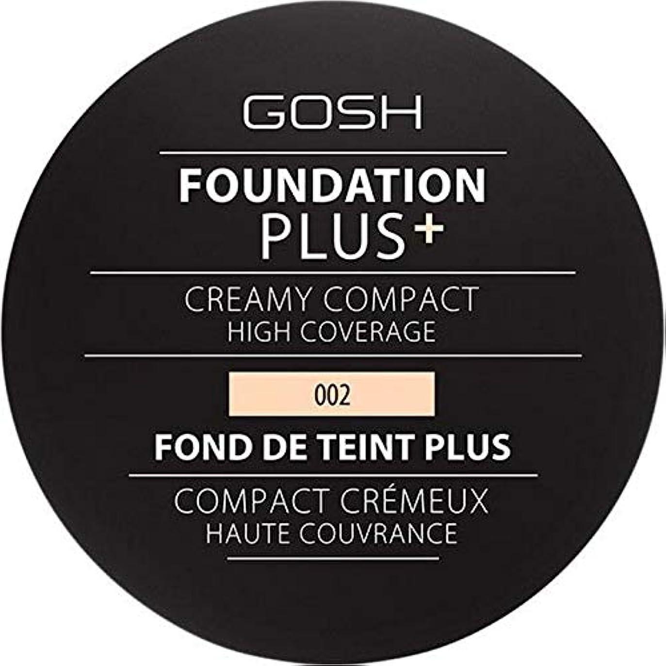 見込みギャロップ感動する[GOSH ] 基礎プラス+クリーミーコンパクトアイボリー002 - Foundation Plus+ Creamy Compact Ivory 002 [並行輸入品]