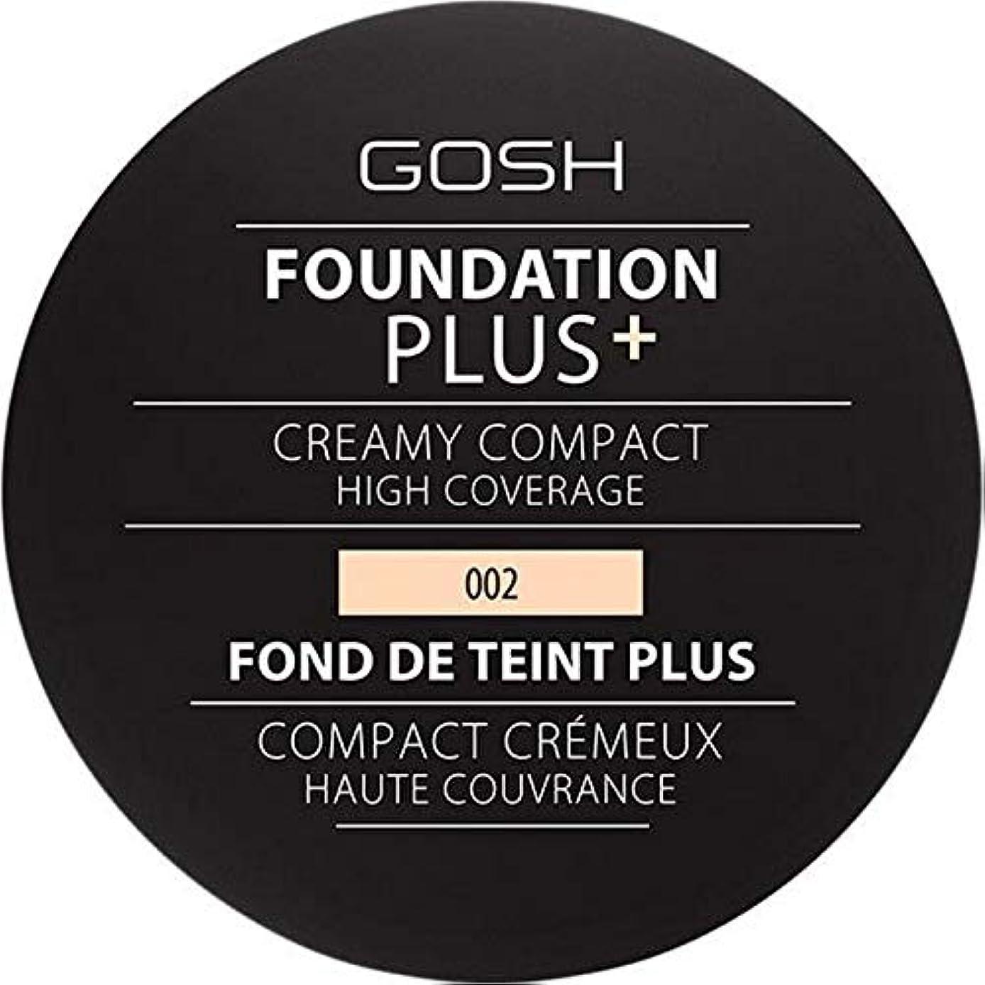 ユダヤ人読みやすいに[GOSH ] 基礎プラス+クリーミーコンパクトアイボリー002 - Foundation Plus+ Creamy Compact Ivory 002 [並行輸入品]