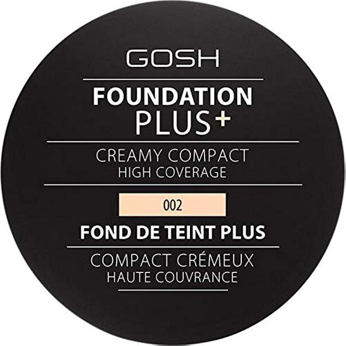 過敏な天文学創傷[GOSH ] 基礎プラス+クリーミーコンパクトアイボリー002 - Foundation Plus+ Creamy Compact Ivory 002 [並行輸入品]