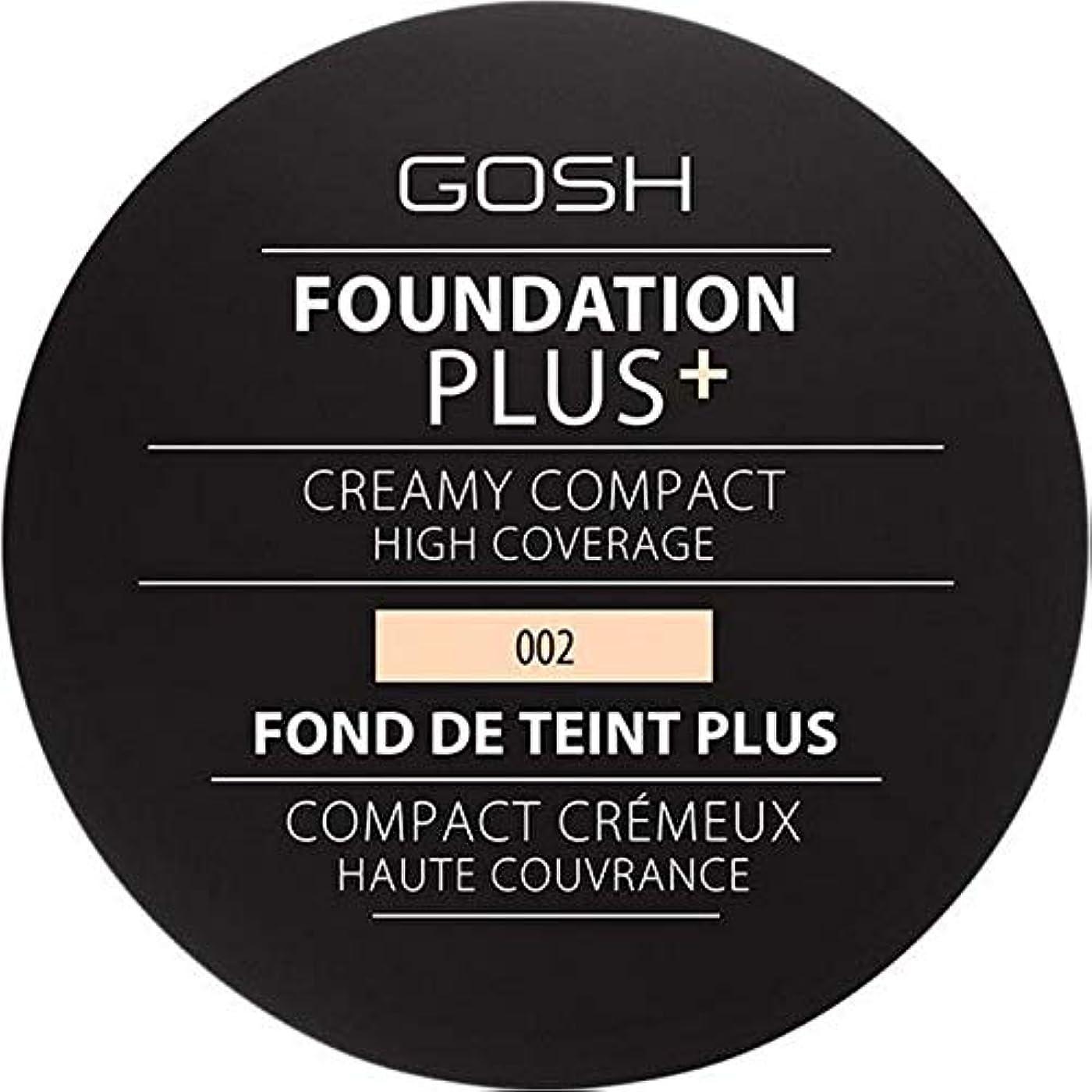 一般アミューズメント減衰[GOSH ] 基礎プラス+クリーミーコンパクトアイボリー002 - Foundation Plus+ Creamy Compact Ivory 002 [並行輸入品]