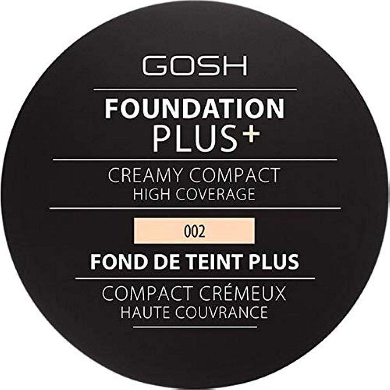 カプラーキャストオゾン[GOSH ] 基礎プラス+クリーミーコンパクトアイボリー002 - Foundation Plus+ Creamy Compact Ivory 002 [並行輸入品]