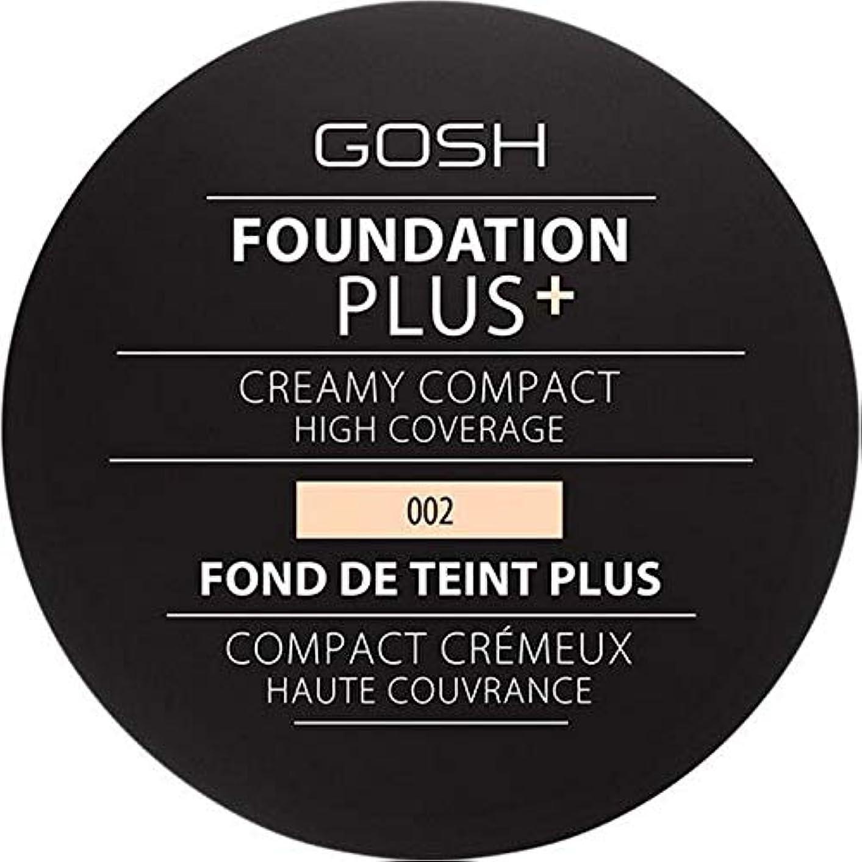 戻すながらまっすぐにする[GOSH ] 基礎プラス+クリーミーコンパクトアイボリー002 - Foundation Plus+ Creamy Compact Ivory 002 [並行輸入品]