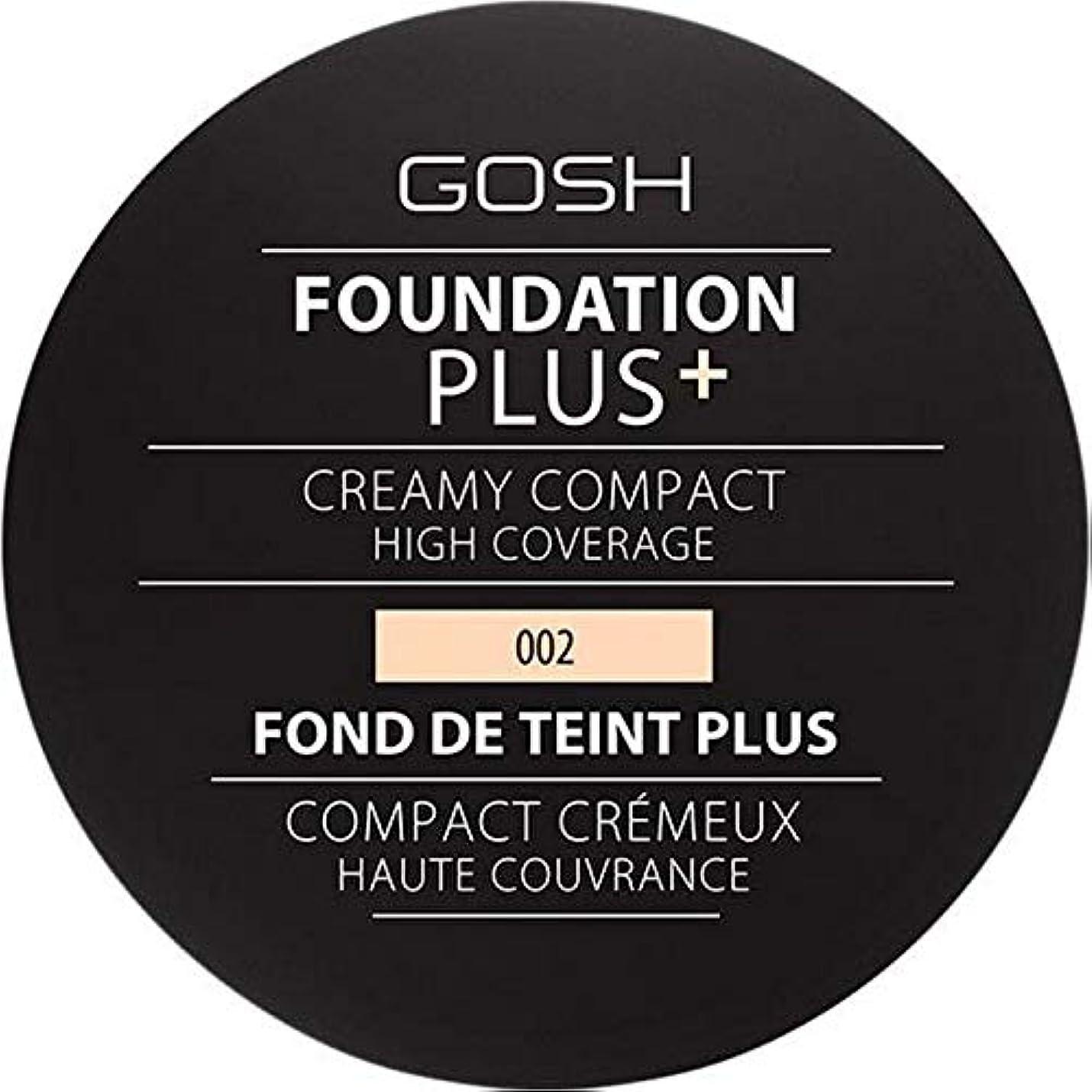 小説家ピア靄[GOSH ] 基礎プラス+クリーミーコンパクトアイボリー002 - Foundation Plus+ Creamy Compact Ivory 002 [並行輸入品]