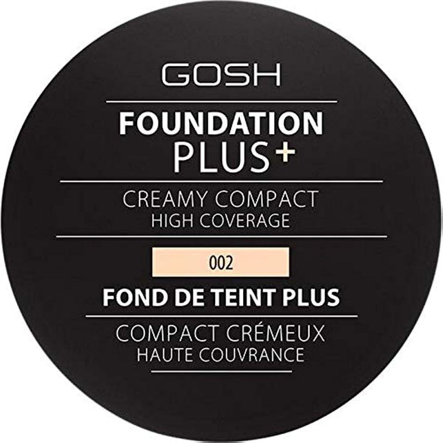 本土アシュリータファーマン画面[GOSH ] 基礎プラス+クリーミーコンパクトアイボリー002 - Foundation Plus+ Creamy Compact Ivory 002 [並行輸入品]