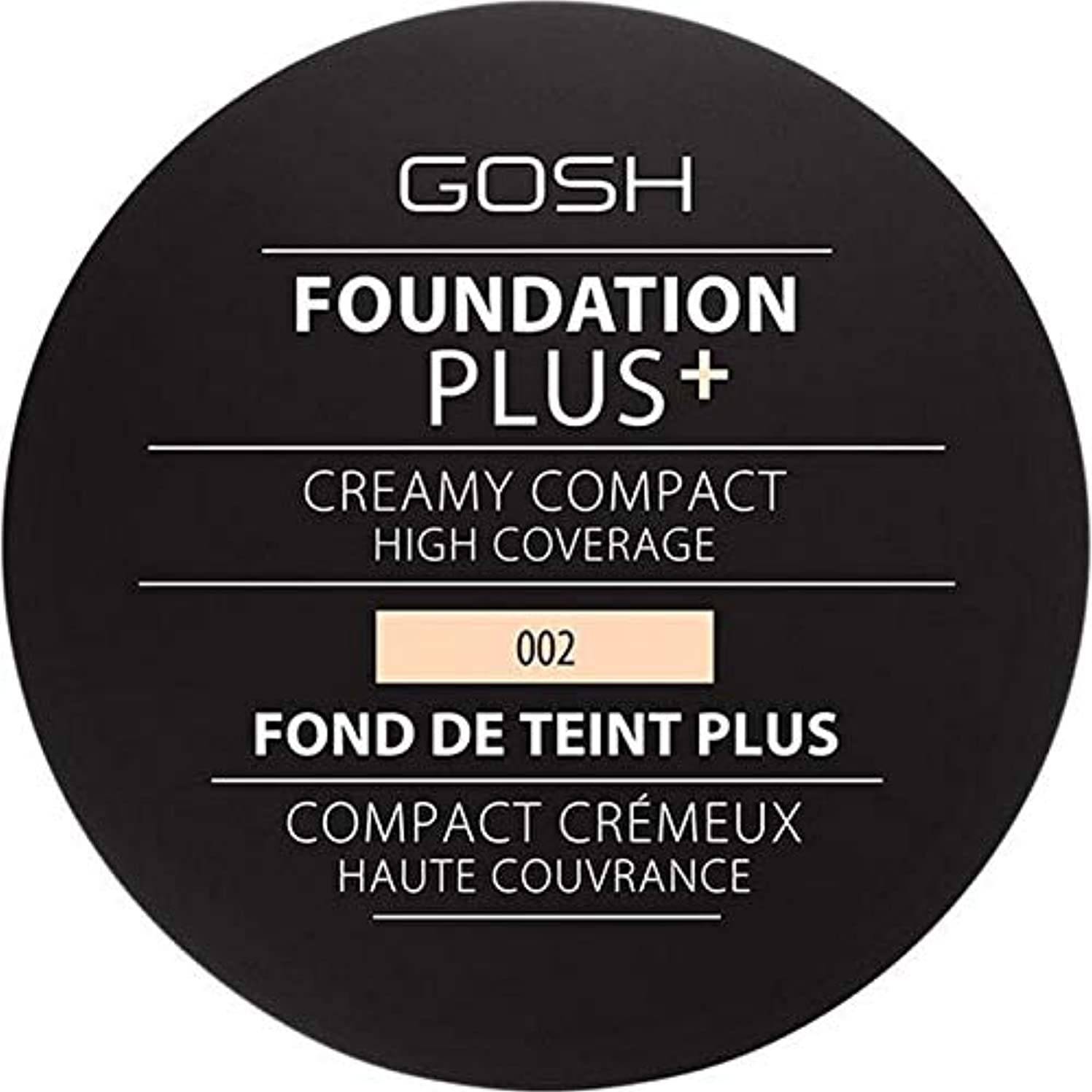話ビーチ厳[GOSH ] 基礎プラス+クリーミーコンパクトアイボリー002 - Foundation Plus+ Creamy Compact Ivory 002 [並行輸入品]