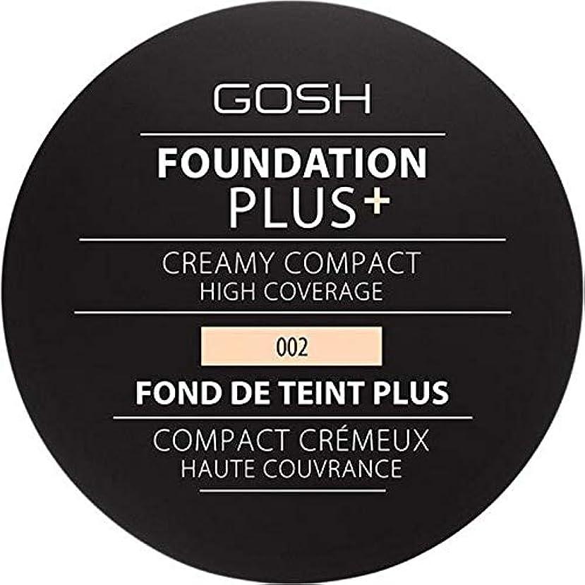織機哀西部[GOSH ] 基礎プラス+クリーミーコンパクトアイボリー002 - Foundation Plus+ Creamy Compact Ivory 002 [並行輸入品]
