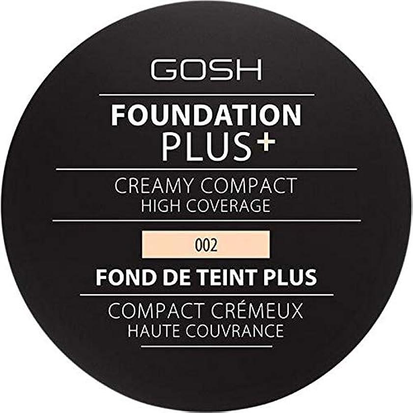 講義トラブルはっきりと[GOSH ] 基礎プラス+クリーミーコンパクトアイボリー002 - Foundation Plus+ Creamy Compact Ivory 002 [並行輸入品]