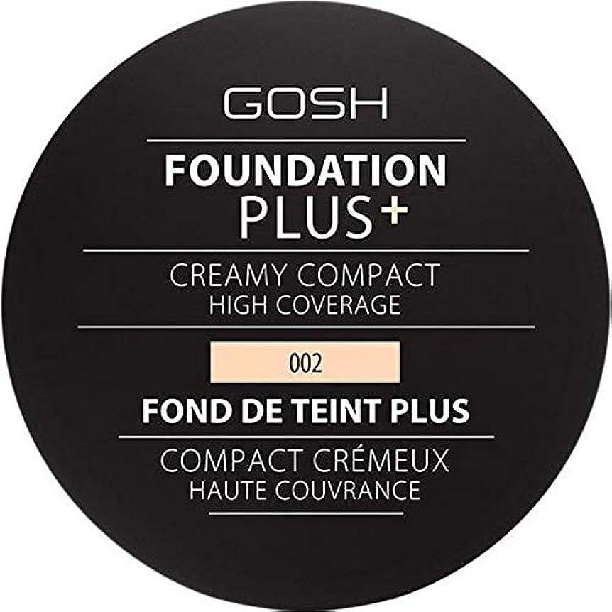 耐える成長貫通する[GOSH ] 基礎プラス+クリーミーコンパクトアイボリー002 - Foundation Plus+ Creamy Compact Ivory 002 [並行輸入品]