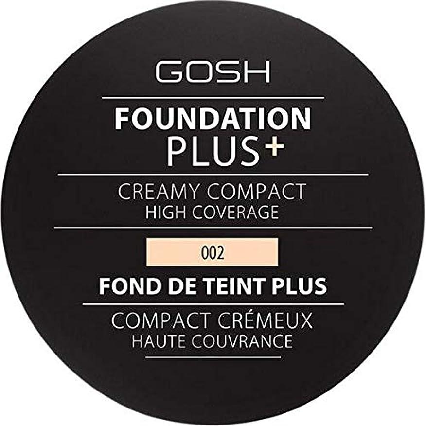 初心者指導するチャンス[GOSH ] 基礎プラス+クリーミーコンパクトアイボリー002 - Foundation Plus+ Creamy Compact Ivory 002 [並行輸入品]