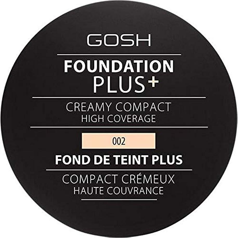 ファックス差し引く告発者[GOSH ] 基礎プラス+クリーミーコンパクトアイボリー002 - Foundation Plus+ Creamy Compact Ivory 002 [並行輸入品]