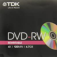 Tdk dvd-rw 4.7gb 4x dvd-rw47meb jewel case 1pz t18890