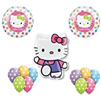 HELLO KITTY Cat Pink ZEBRA (13) Birthday PARTY Supplies Mylar Latex BALLOONS Set by Thavornshop [並行輸入品]