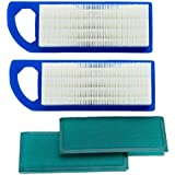 HOODELL 2 Pack 697153 Air Filter, Compatible for Briggs and Stratton 698083 795115, John Deere gy20573, Premium Lawn Mower Ai