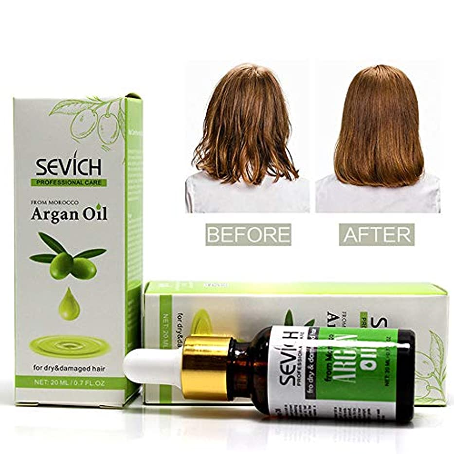 消毒する野望庭園SakuraBest 1 PCs 20ml Pure Argan Oil Hair Care Essence Morocco Oil Repair Treatment for Dry Hair Type