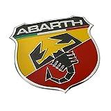 ABARTH アバルト アルミニウム エンブレム カーステッカー デカール FIAT 500 アルファロメオ Alfa Romeo NO1 [並行輸入品]