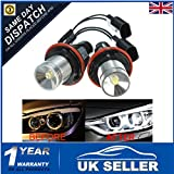 Audew Halo Angel Eyes Light Bulb 3W LED For BMW E39 E63 X5 E83 5 6 7 Series 02-08 White