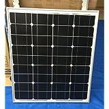 50W 12v 単結晶 シリコン ソーラーパネル 太陽光パネル 超高品質 新型 割れにくいガラス使用 ダイオード内臓、 PL保険加入所品
