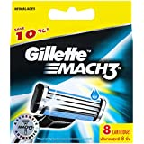 Gillette Mach3 Men's Razor Blades Refill Cartridges, 8 Pack, Mens Razors / Blades