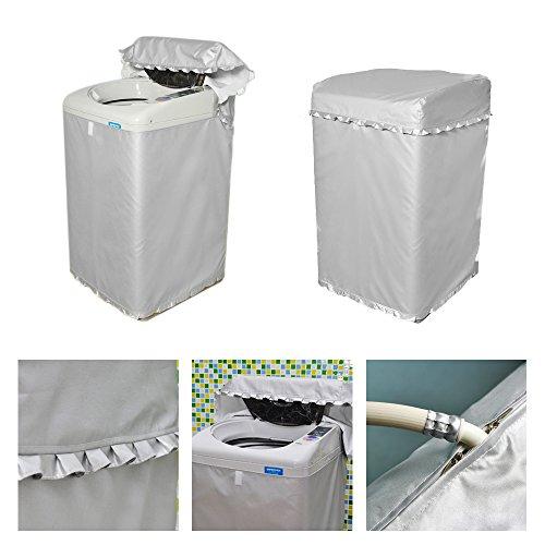 [Mr. You ]洗濯機カバー レース厚い シルバー 防水 防日焼け (52*54*88)